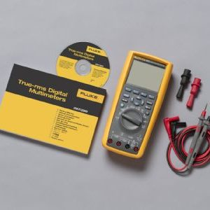 Multimeters Fluke-289 trms industrial logging dmm with trendcapture laid out on table
